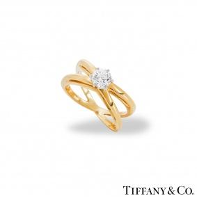 Tiffany & Co. Crossover Diamond Ring